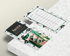 Дизайн визитки мастера маникюра