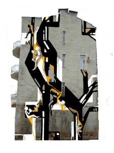 Проект росписи фасада многоэтажного дома