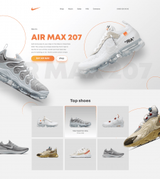 Landing page for AIR MAX 207