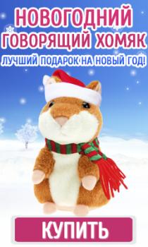 """Баннер """"Новогодний хомяк"""""""