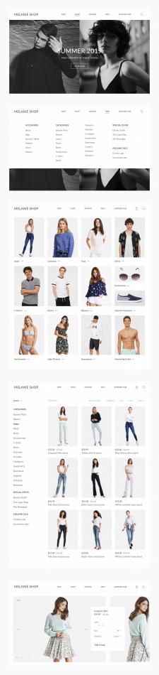 Концепт дизайна сайта для интернет магазина