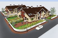 Проект. Блокированный жилой дом