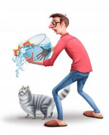 Персонаж с котом