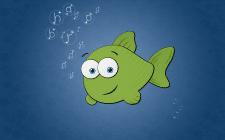 Рыбка, растровая графика