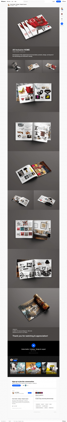 Home Guide / Catalog - Design & Layout