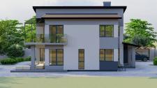 Дизайн визуализация экстерьера жилого дома г. Киев