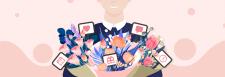 Иллюстрация к статье о доставке цветов