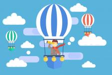 иллюстрация для сайта в стиле флэт