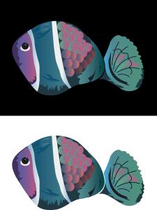 Рыбка вектор