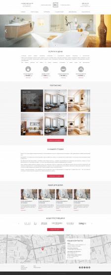 Мебельный салон - Landing page