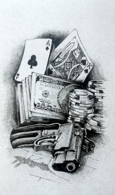 Копия татуировки перенесенная на эскиз.