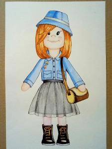 Ескіз текстильної ляльки