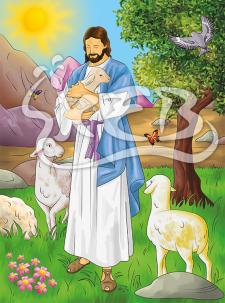 """Пазлы для детей """"Господь-Пастырь мой!"""""""
