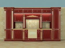 моделирование кухни в классическом стиле