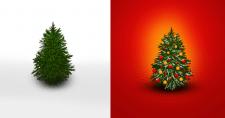 """Иконка - рисунок """"Рождественская елка"""""""
