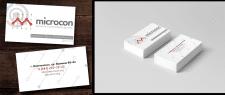 """Визитка для компании """"MICROCON"""""""