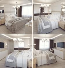 Разработка дизайна и визуализация спальни