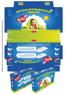 Детская упаковка ортопедической подушки