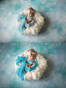 Ретушь фото новорожденного