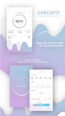 Дизайн фитнес-приложения \ Fitness app design