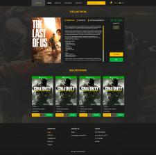 Дизайн сайта по игровой тематике - Карточка товара