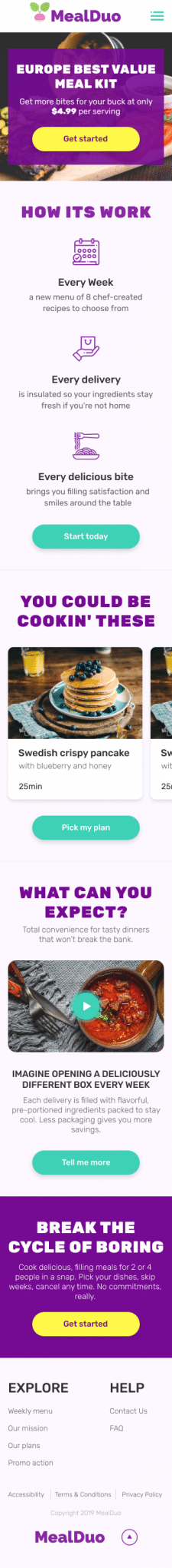 MealDuo Mobile