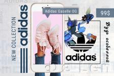 Баннер кроссовок Adidas