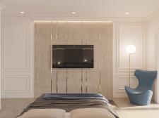 Дизайн спальни в современной классике