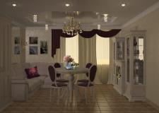 гостиная-студия в классическом стиле