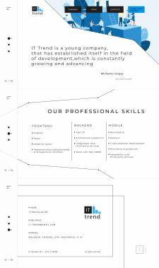 Дизайн сайта и айдентика для It-компании