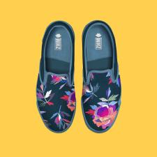 Цветы на обуви