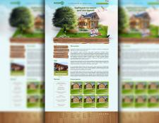 дизайн сайта (будівництво дерев'яних будинків)