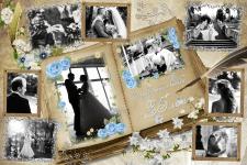 Свадебный коллаж к 25-летнему юбилею