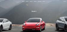 Копия начальной страницы сайта Tesla