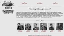 Страница блога с адаптивной версткой