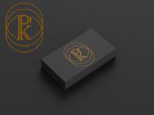 Разработка логотипа клиенту с инициалами РК