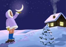 иллюстрация к рождественской открытке