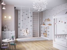 Visualization of a children's room for a girl