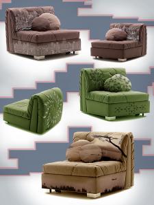 Эскизные варианты принтов на кресла