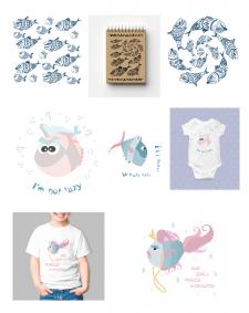 Fish t-shirt print