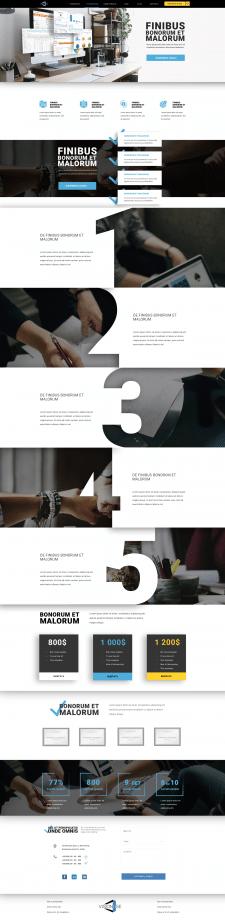 Разработка ux/ui дизайна Landing page.