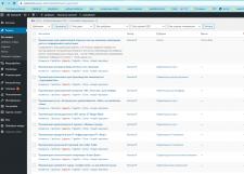 Заполнение админки WordPress