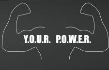 your power . Лого для отрывающегося зала