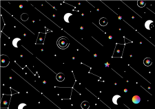 Паттерн для художественной школы «Космос»