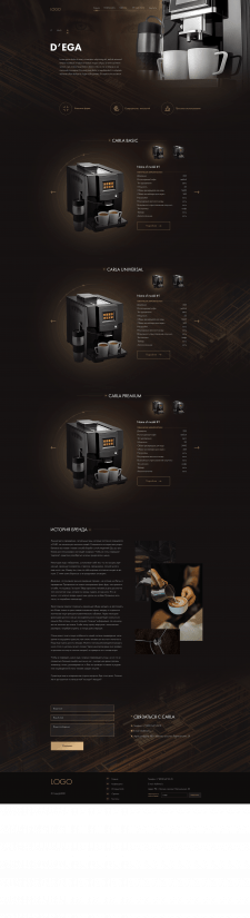 Сайт по продаже кофемашин на WP