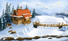 Monster Tale - Background winter Day