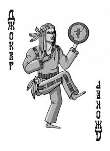 Spielkarten Indians- Skelette18