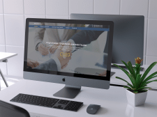 Первый экран лендинга для юридической фирмы