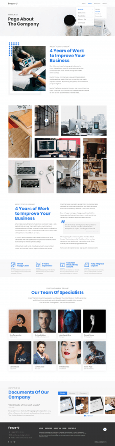 Дизайн корпоративного сайта | Focus-U