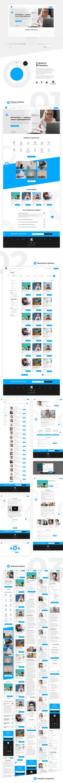 Дизайн сайта-агрегатора курсов и разработка лого